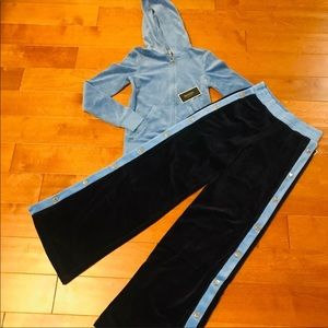 Juicy couture wide leg tracksuit.